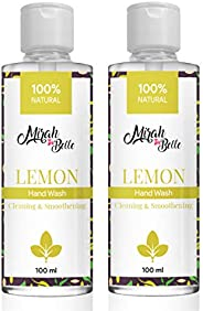 Mirah Belle - Natural Lemon Hand Wash (100 ML - Pack of 2) - Cleanses and Purifies Hands - Great for Softening