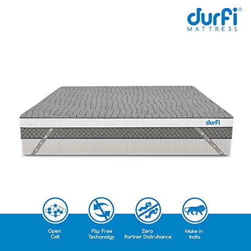 Durfi 2-Inch Orthopedic Queen Size Memory Foam Mattress Soft Topper in Grey (72x60x2 Inch, Memory Foam) Image 4