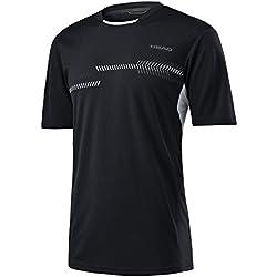 HEAD Club - Camiseta técnica para hombre, hombre, color negro, tamaño L