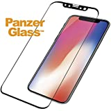 PanzerGlass Tempered Glass for Apple iPhone X Edge to Edge Black Frame with Easy Installation Kit