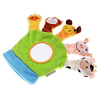 Baoblaze Cute Baby Child Zoo Farm Animal Hand Sock Glove Puppet Finger Sack Plush Toy