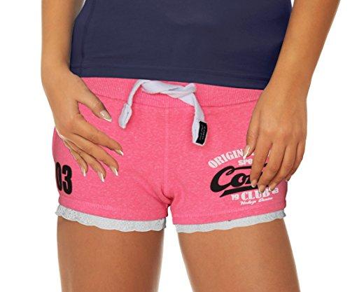 M.Conte Damen Jersey-Shorts Basic Skinni Fit Sport-Shorts