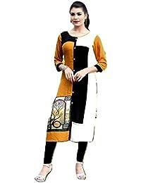 Clickedia Women's Ethnic Printed Rayon Kurti