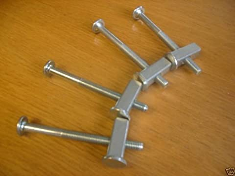 Metal Bunk Bed Bolts - SET OF 4 with BLOCK NUTS