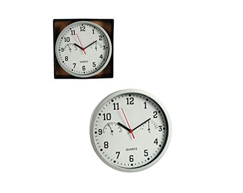 Wanduhr mit Hygrometer | Thermometer | Uhr | Zeit | Wand Uhr | Geschenk | weiss | Preis am Stiel®