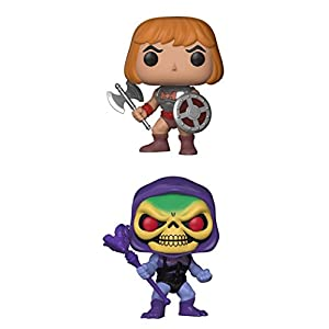 FunkoPOP Masters Of The Universe Battle Armor He Man Battle Armor Skeletor Cartoon Vinyl 2 Figure Bundle Set NEW