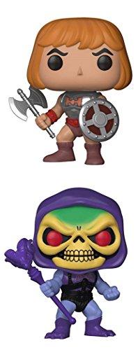 FunkoPOP Masters Of The Universe Battle Armor He Man Battle Armor Skeletor Cartoon Vinyl 2 Figure Bundle Set NEW