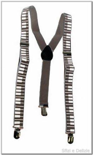 Funny Fashion 60826 Hosenträger Piano Klavier Klaviertasten Musik Tastatur ()