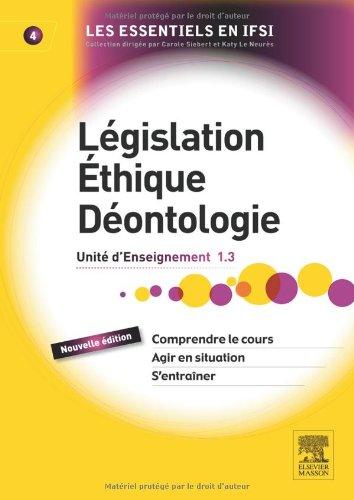 Législation, éthique, déontologie 2e