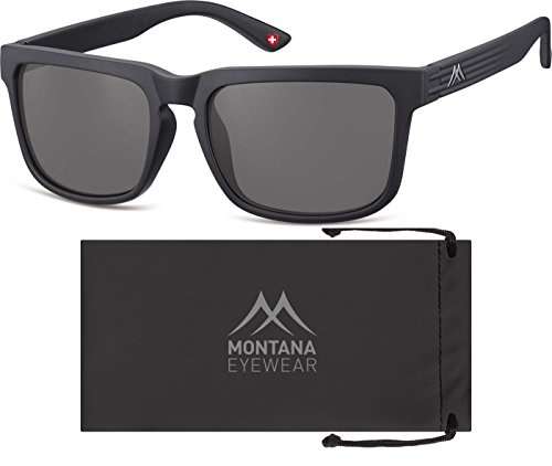 Montana S26, Gafas de Sol Unisex Adulto, Multicoloured (Black/Smoke Lenses), Talla única