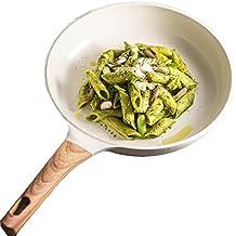 YJJY Sartén de Cocina, Revestimiento de cerámica para Uso doméstico, Antiadherente, multifunción,