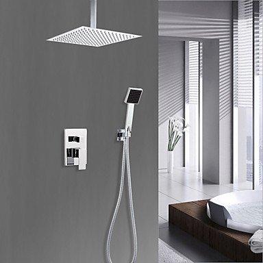 Preisvergleich Produktbild Duscharmaturen - Landhaus Stil Chrom Duschsystem Keramisches Ventil