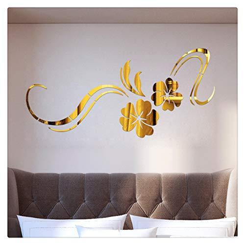 Jerfer adesivi muro wall sticker adesivi murali 3d modern mirror flowers vinile rimovibile wall sticker decal home decor art