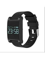 Mobile SmartWatch bracelet intelligent écran tactile capacitif,suivi de mouvement,Moniteur de fréquence cardiaque,Capture à distance,Mode de vibration silencieuse pour Android Samsung Sony HTC Huawei iPhone IOS