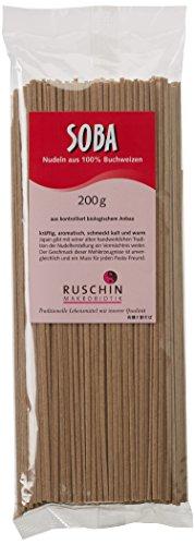 Ruschin Soba Nudeln aus 100% Buchweizen, (1x 200 g)
