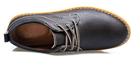 Autunno Scarpe Casual In Pelle Da Uomo Scarpe Da Uomo In Pelle Gioventù Stringate Moda Inghilterra Scarpe Traspiranti Brown