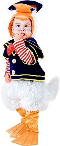 Costume di carnevale da piccolo paperotto vestito per neonato bambino 0-3 anni travestimento veneziano halloween cosplay festa party 8967 taglia 2