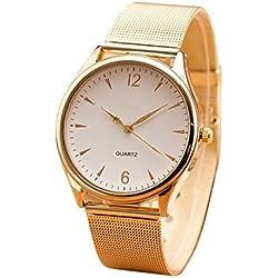 Ularmo Womens Classic Gold Geneva Quartz Stainless Steel Wrist Watch