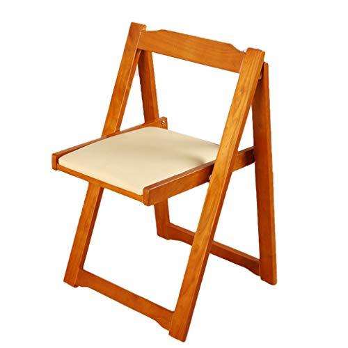 Klappstuhl Restaurant Holz Rückenlehne Einfache Home Desk Indoor Balkon 37 * 45 * 75 cm MUMUJIN