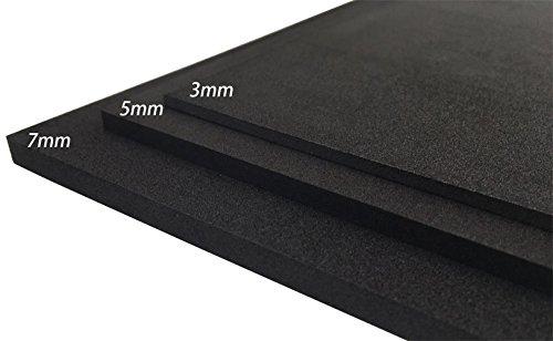 EVA Schaum Blatt Handwerks Blatt Stärke 3mm/5mm/7mm färben des Schwarz 8 für Cosplay Projekt DIY (9.6