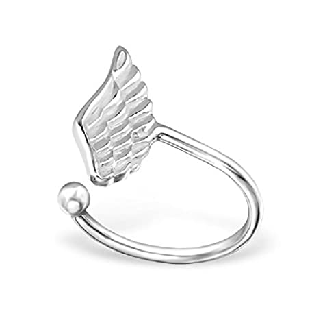 Wing Ear Cuff - 925 Sterling Silver - Size: 5mm x 11mm - Free Gift Box Included - The Rose & Silver Company - RS0266