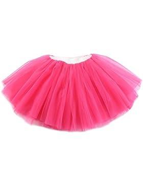 Free Fisher -Bambini Ragazza Principessa Tutu Gonne Balletto Gonna 5 Strati Sottoveste Petticoat Tutù Di Tulle...