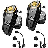 ENCHICAS 2x BT S2 Intercomunicador Casco Moto Manos Libres Auriculares Sistema de Comunicación por...