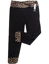 Rockabilly 50's Leopard & Polka 3/4 Trim Cropped Stretchy Leggings in Four Styles Sizes 12-22