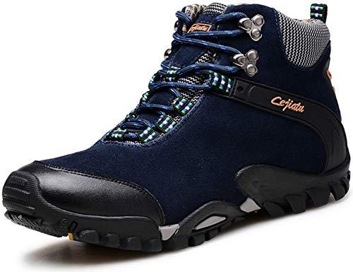 SINOES Herren Wanderschuhe High Top Trekking-Schuhe Rutschfeste Atmungsaktive Wanderschuhe Trekking-Sneaker