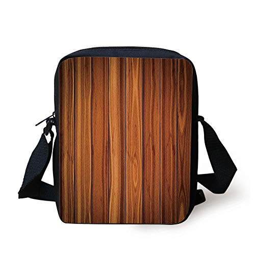 - Rustic Home Decor,Tall Decorative Bound Wood Line Timber Trunk Red Maple Stem Birch Branch Image,Brown Print Kids Crossbody Messenger Bag Purse