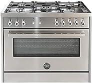 Bertazzoni 90x60 CM Full Gas Cooker, PRO905GGVLXC, 1 Year Warranty
