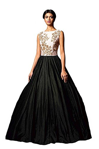 Gown (Lady Loop Women's Bhagalpuri Silk Semi - Stitched floor length Free Size Lehenga Choli)  available at amazon for Rs.199