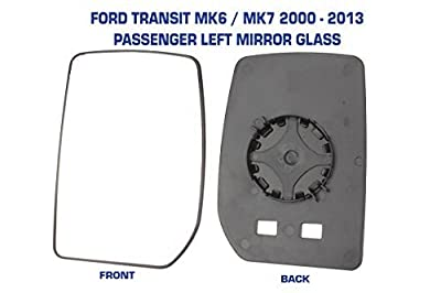 Transit Mirror Glass MK6 & MK7 2000 - 2013 Manual Not Heated Passenger Side Ford produced by Transit Parts UK - quick delivery from UK.