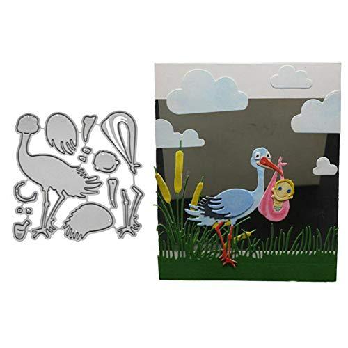 Lai-LYQ Metallschablone für Baby-Lieferung, zum Basteln, Scrapbooking, Papierkarten, Album, Schablone - Silber