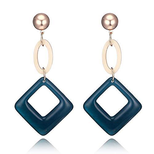 JunBo Mode-Retro-Acryl-Diamant-Ohrringe Aktuelle 100-Match Ohrring
