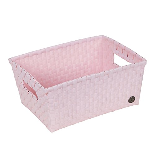 Handed by Bibbona Open Basket with Open Handles Powder Pink