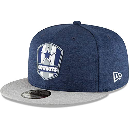 New Era NFL Dallas Cowboys Authentic 2018 Sideline 9FIFTY Snapback Road Cap, Größe :M/L