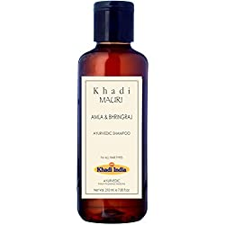 Khadi Amla & Bhringraj Herbal Shampoo - Hair Growth & Root Strengthening - 210 Ml