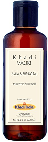 Khadi Mauri Herbals Amla and Bhringraj Herbal Shampoo, 210ml