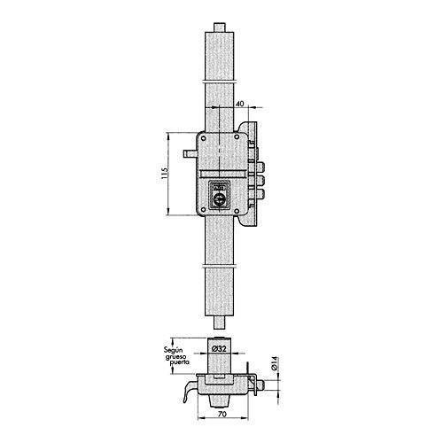 Azbe–Einsteckschloss Sicherheit 9hs-3/HP Dr.