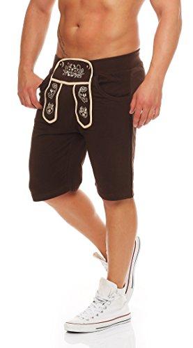 Gennadi Hoppe Herren Shorts im Trachten Stil (M, braun)