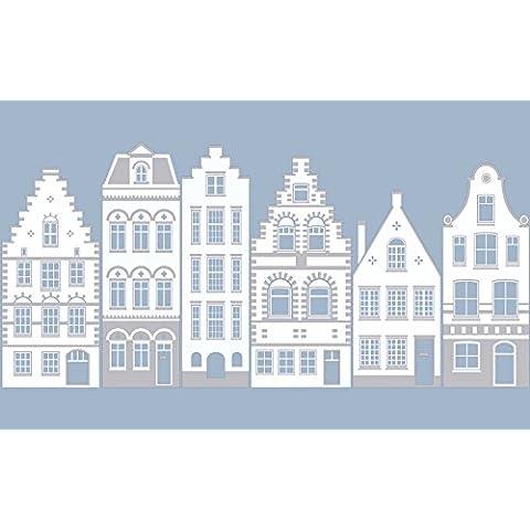 d-c-fix® 334-0032 - Pellicola aderente per vetro non adesiva, adesione statica, motivo New Haven, 45 cmx1,5m