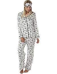 Indigo Sky Ladies City Breaks Print Matt Charmeuse Satin Pyjama c58f192d2