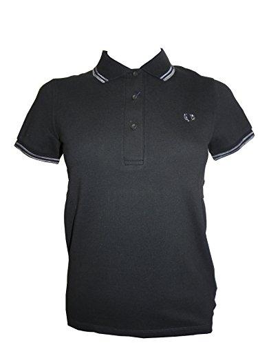 Polo Fred Perry Damen Twin Tipped black 2015 Gr. Medium, Schwarz