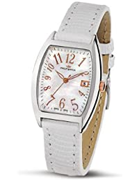 Philip Watch Panama Mother of Pearl Dial with White Lizard Strap