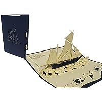 LIN - Biglietto d'auguri per viaggi con barca a vela in 3D - Vacanza In Barca