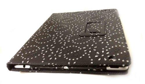 Jat und schwarzen Blättern Executive Leder Schutzhülle für Apple iPad 3 -