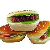 FairOnly Juguete Divertida Hamburguesa de Hot Dog de Simulación de descompresión para Niños/Adultos Regalo