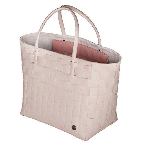 Handed By - Safe Bag - Shopper - Einkaufskorb - Flechtkorb mit Innentasche - rosa 35 x 38 x 24 cm