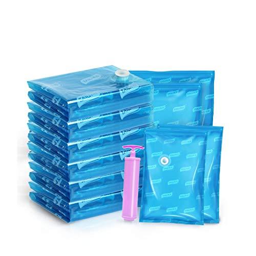 Sac de rétrécissement Sac de compression sous vide Sac de rangement Sac de couette Vêtements Taille moyenne Maison Grand Vêtement de finition Vêtement Artefact Bleu Épaississement Simple Upgrade
